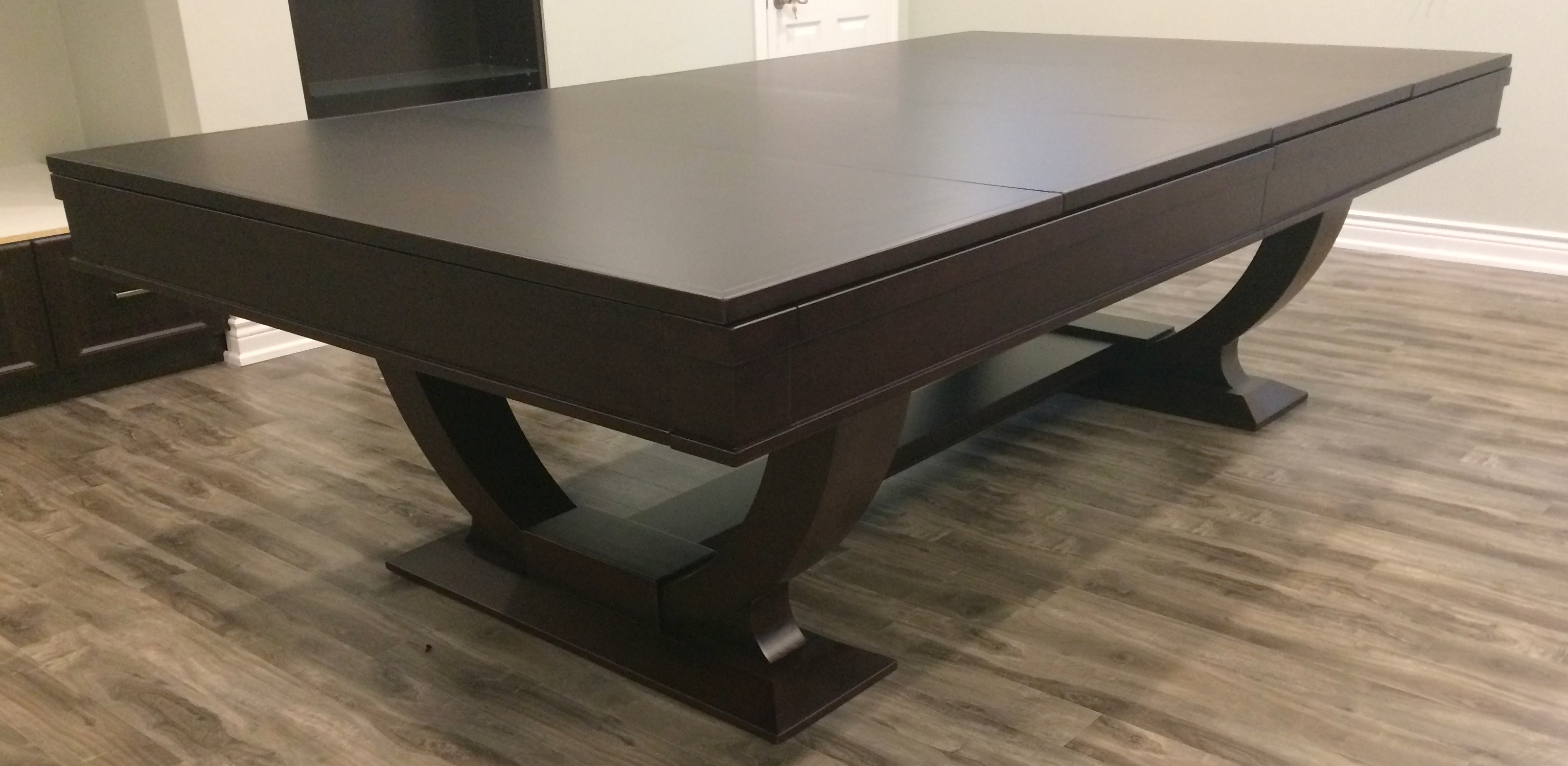 9 Orion Modern Pool Table In Espresso Dining Top Option Discount Pool Tables