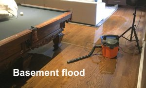 Basement Flood Pool Table